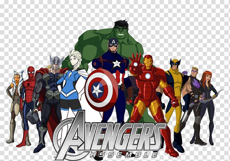 Marvel Avengers Assemble , Captain America Hulk Black Widow Thor.