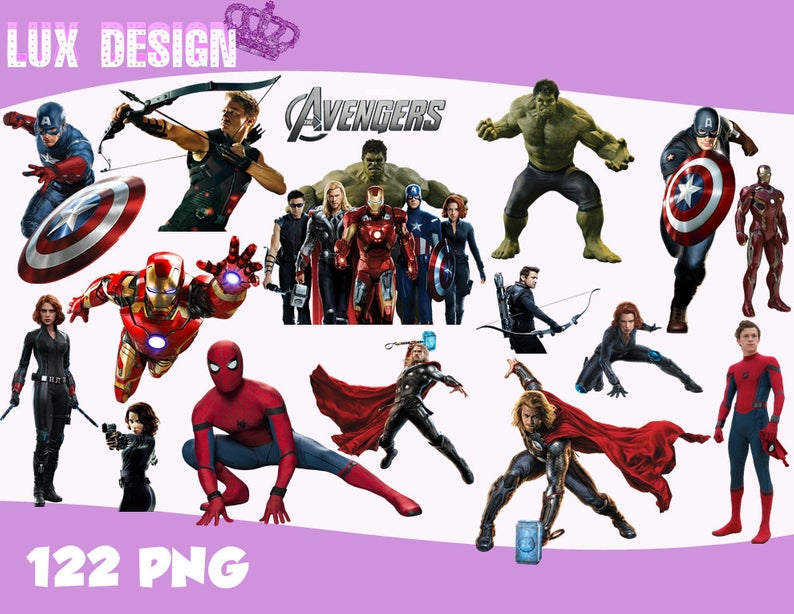 122 The Avengers ClipArt.