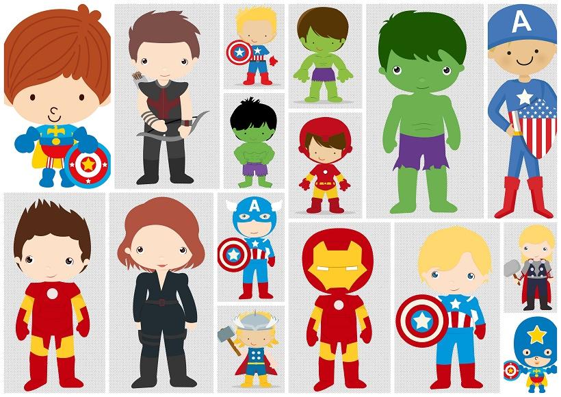 Avenger Babies Clipart..