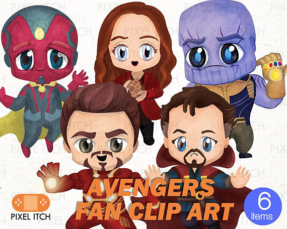 Avengers Infinity Wars Characters Clip Art.