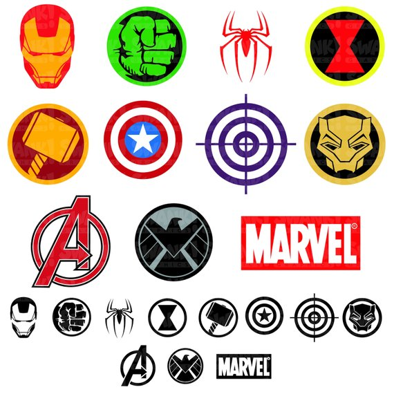 Avengers Superhero Symbol Clipart.