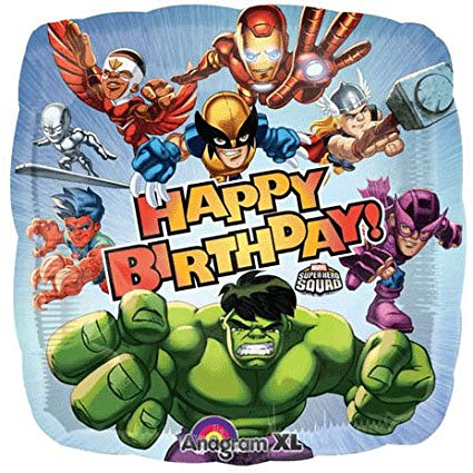 Marvel Squad Birthday Party supplies mylar balloon 18 inch.