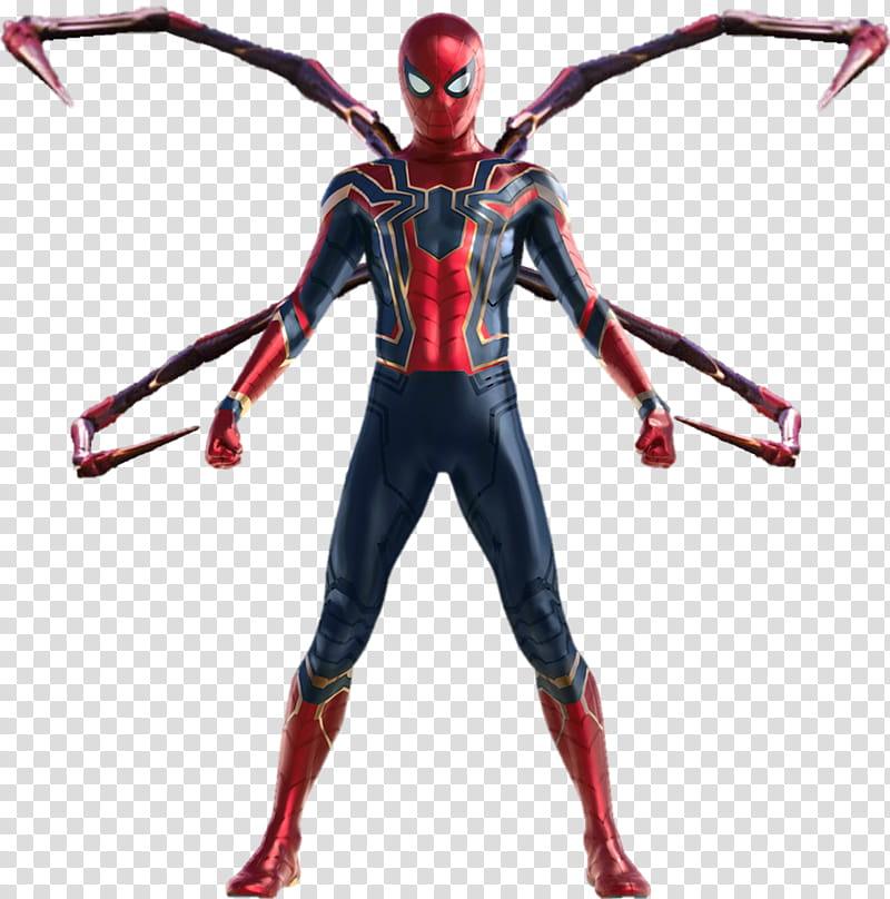 Spiderman Iron Spider Avengers Infinity War transparent background.