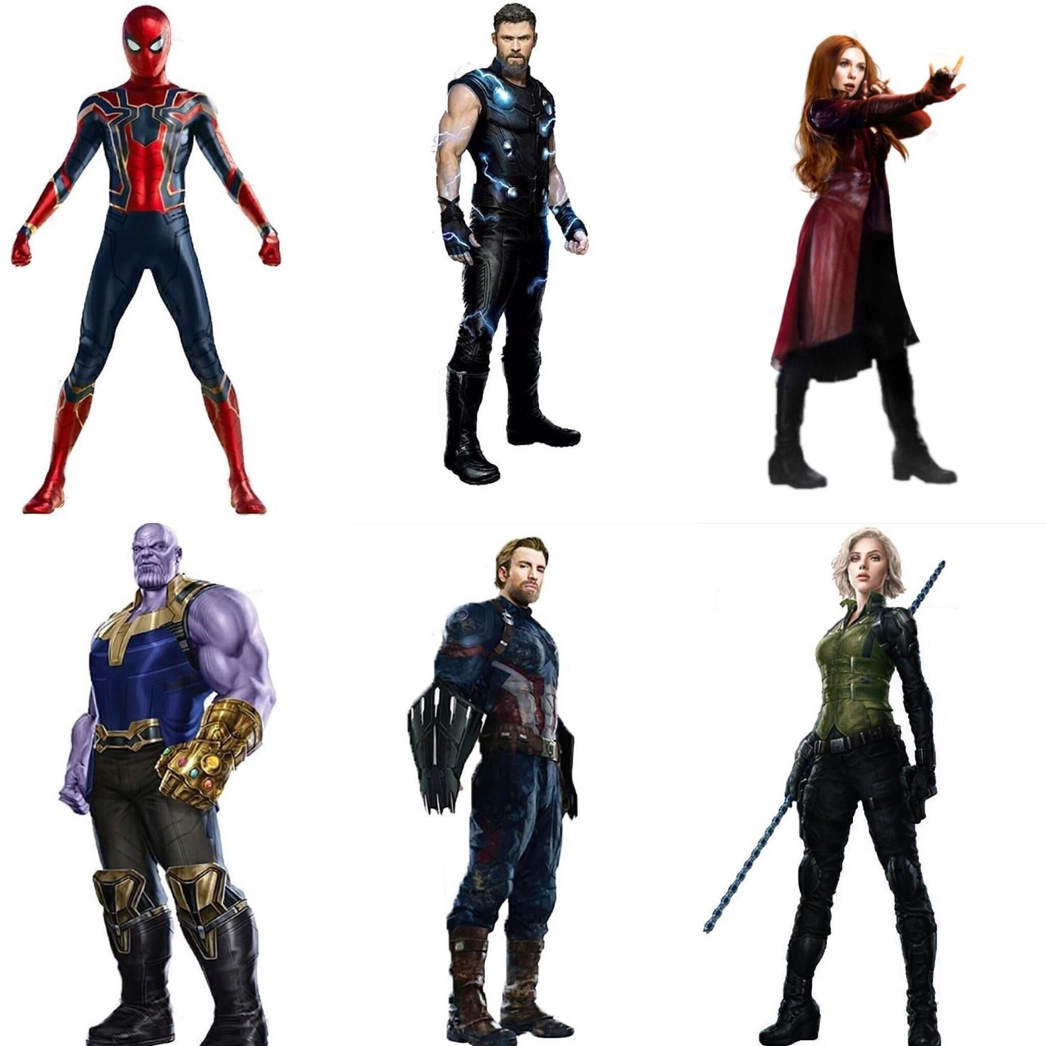 Avengers Infinity War character art!.