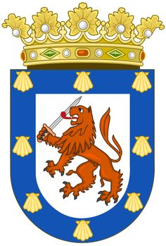 The Coat of Arms of Chile, showing the Huemul on the left and the.
