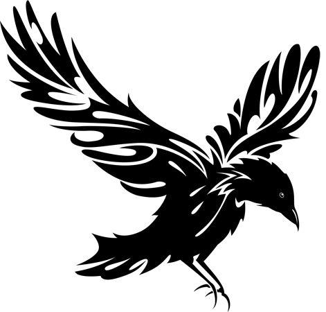 Ravens clip art.