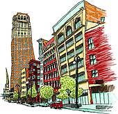 Avenue Clip Art EPS Images. 1,889 avenue clipart vector.