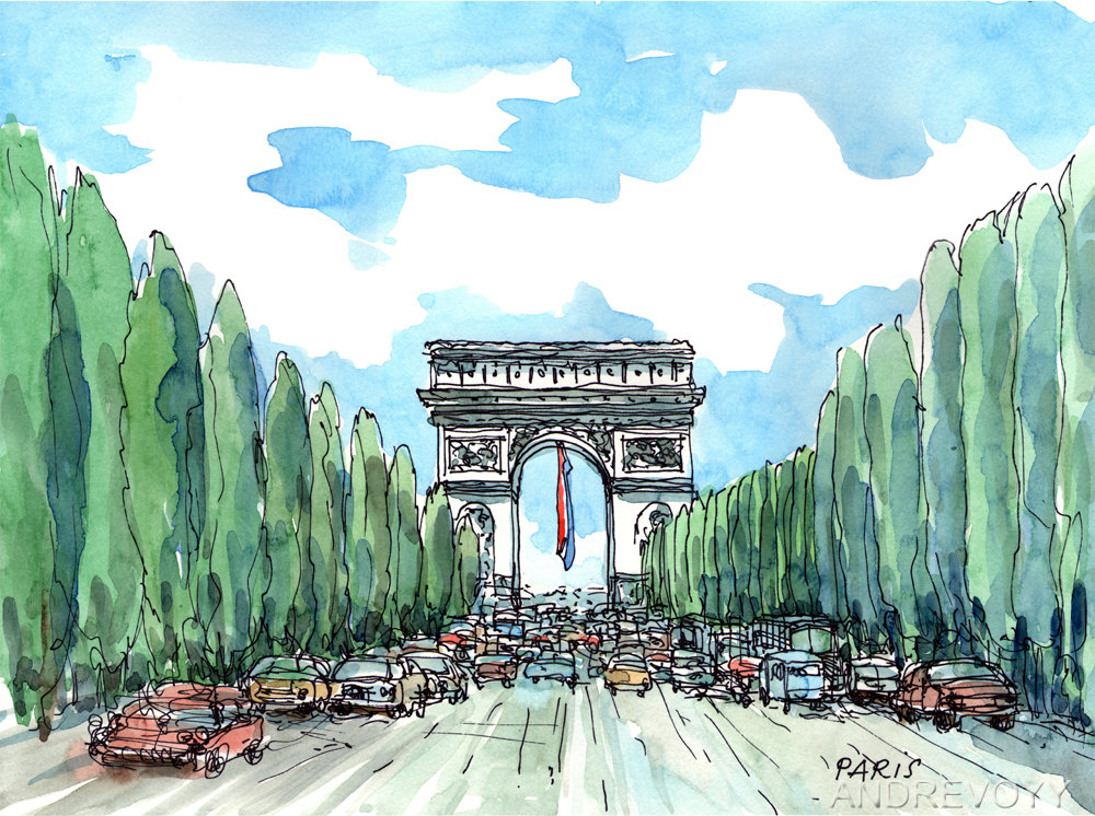Champs elysees.