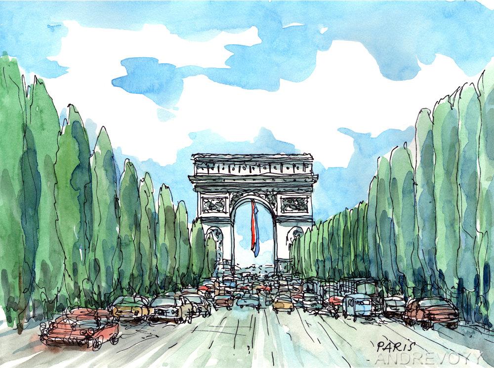 Champs elysees.