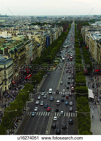Stock Photography of Aerial view of Avenue des Champs.
