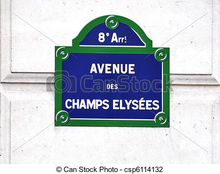 Stock Photo of Avenue des Champs.