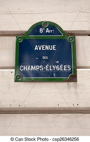 Stock Images of Avenue des Champs.