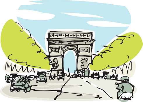 Clipart champs elysees.