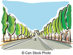 Champs elysees Vector Clipart EPS Images. 36 Champs elysees clip.