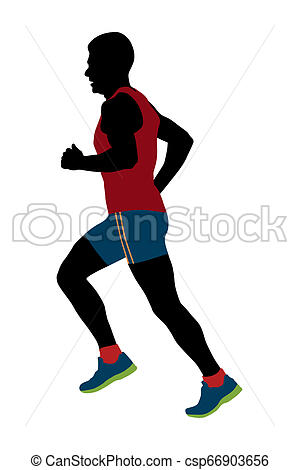 male runner of average years.