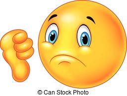 Vector Clipart of Dislike emoticon csp7311200.