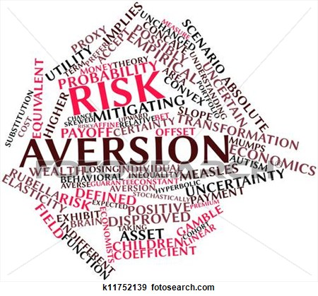 Risk Aversion Clipart.