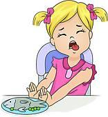 Clip Art of Finicky Kid k17693458.