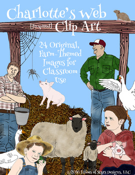 Charlotte\'s Web Inspired Clip Art: 24 Farm.