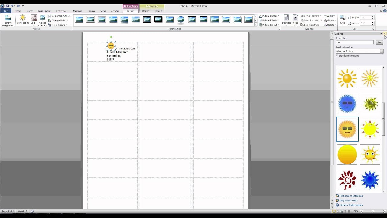 How to Add Images and Text to Label Templates in Microsoft Word.