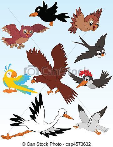 Vector Illustration of Birds.