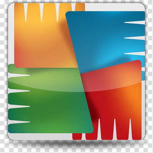 Andras Rocket Dock Icons v, AVG Antivirus transparent.