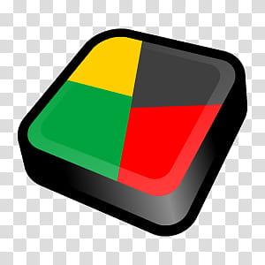 D Cartoon Icons II, AVG Antivirus, multicolored logo.