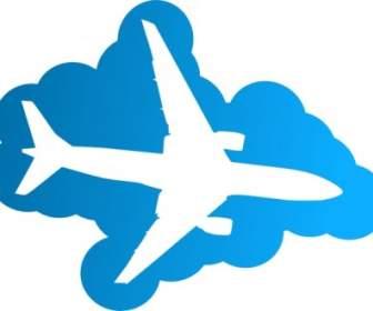 Boeing Avião Silhueta Clip.