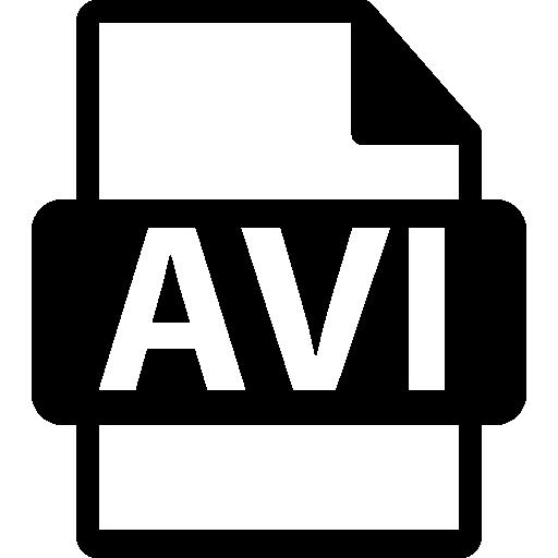 Avi video file format symbol Icons.