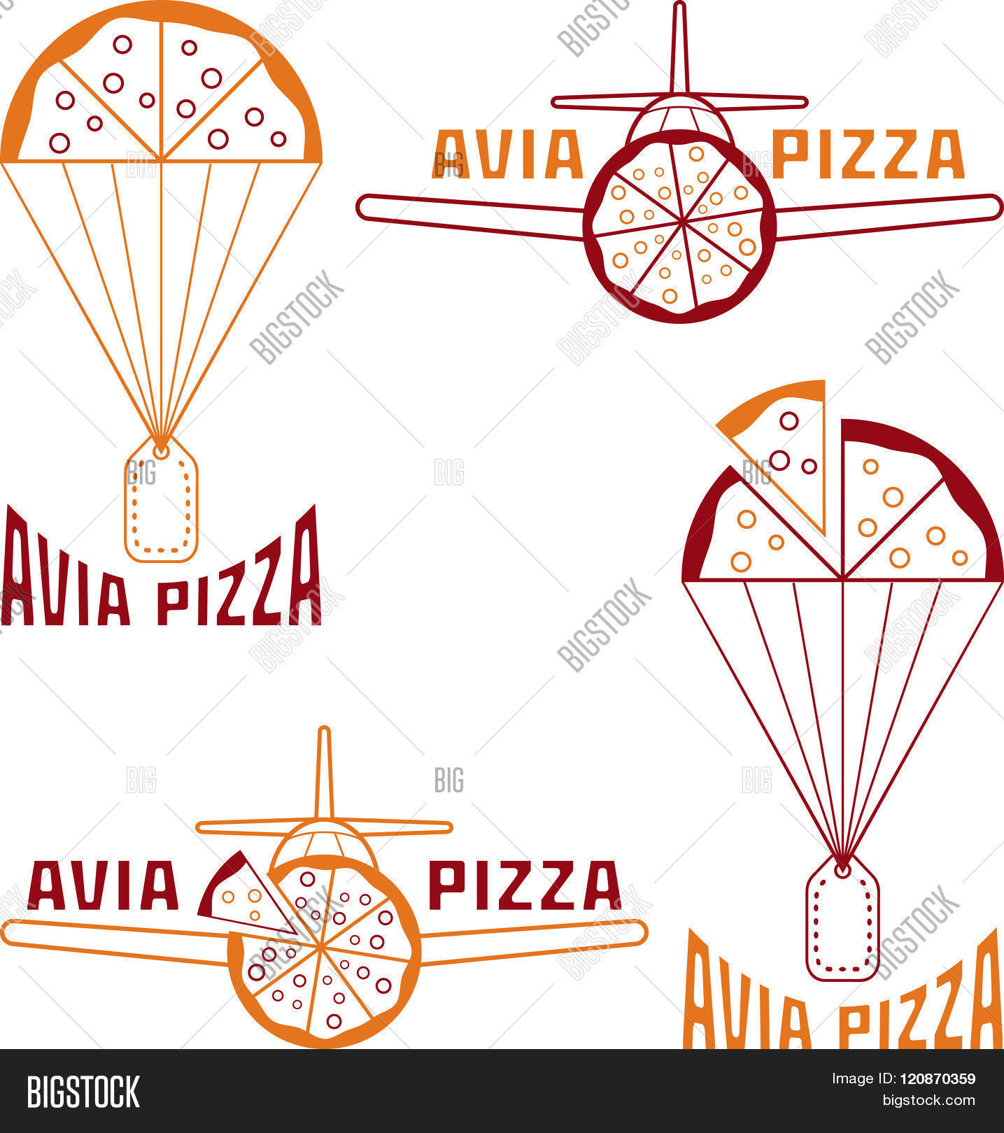 Avia Pizza Vector Illustration Concept . Concept Of Graphic.