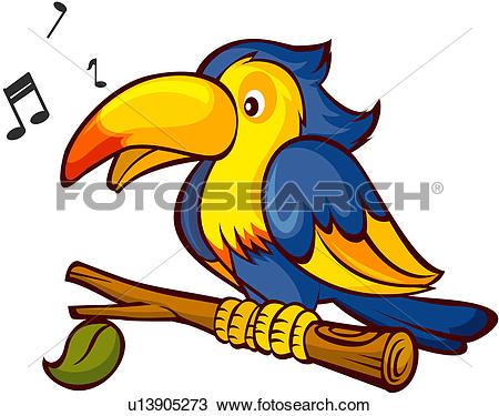 Drawing of parrot, vertebrate, bird, avian, animal, pet u13905273.