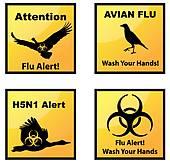 Avian Flu Clip Art.