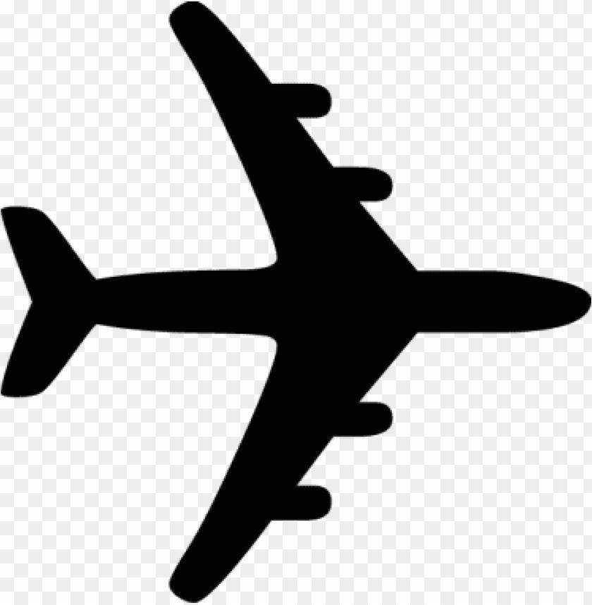 silhueta avião PNG image with transparent background.
