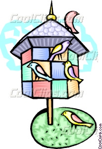 aviary and birds Vector Clip art.