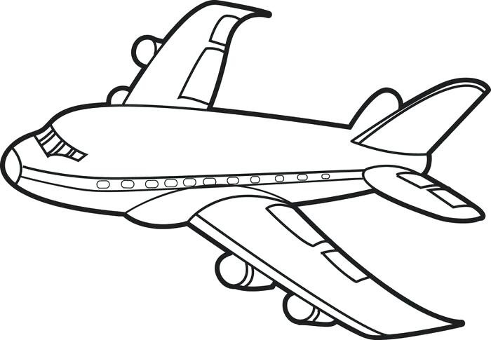 Aeroplane Clipart Black And White.