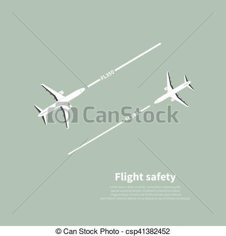 Clipart Vector of Aviation safety infographic. Scene 4. Vector.
