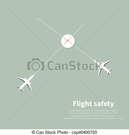 Vector Illustration of Aviation safety infographic. Scene 1.