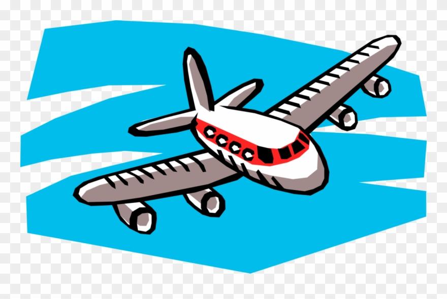 Aircraft In Flight Vector Image Illustration Of.