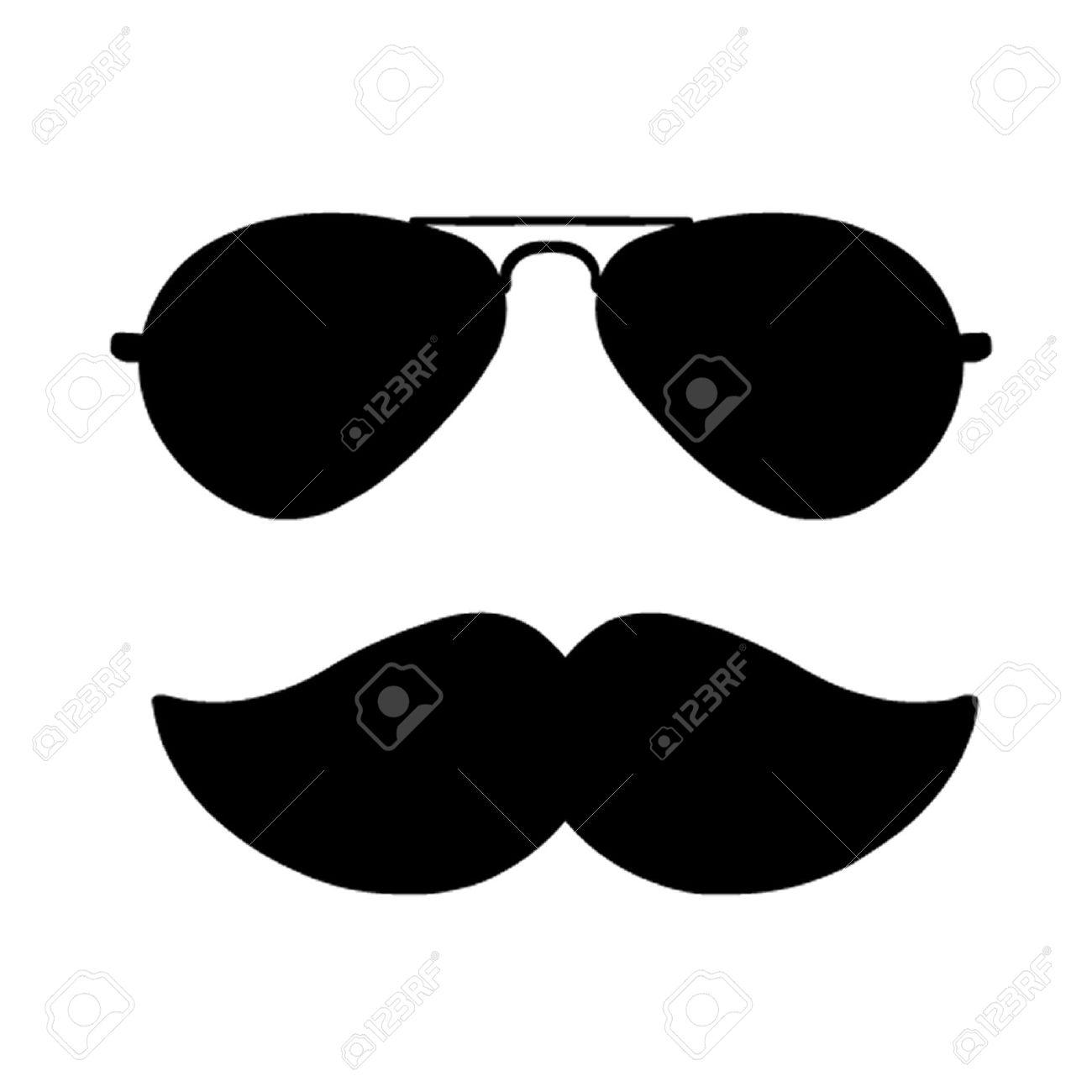 Aviator glasses clipart.