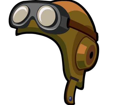 Aviator Hat Clipart.