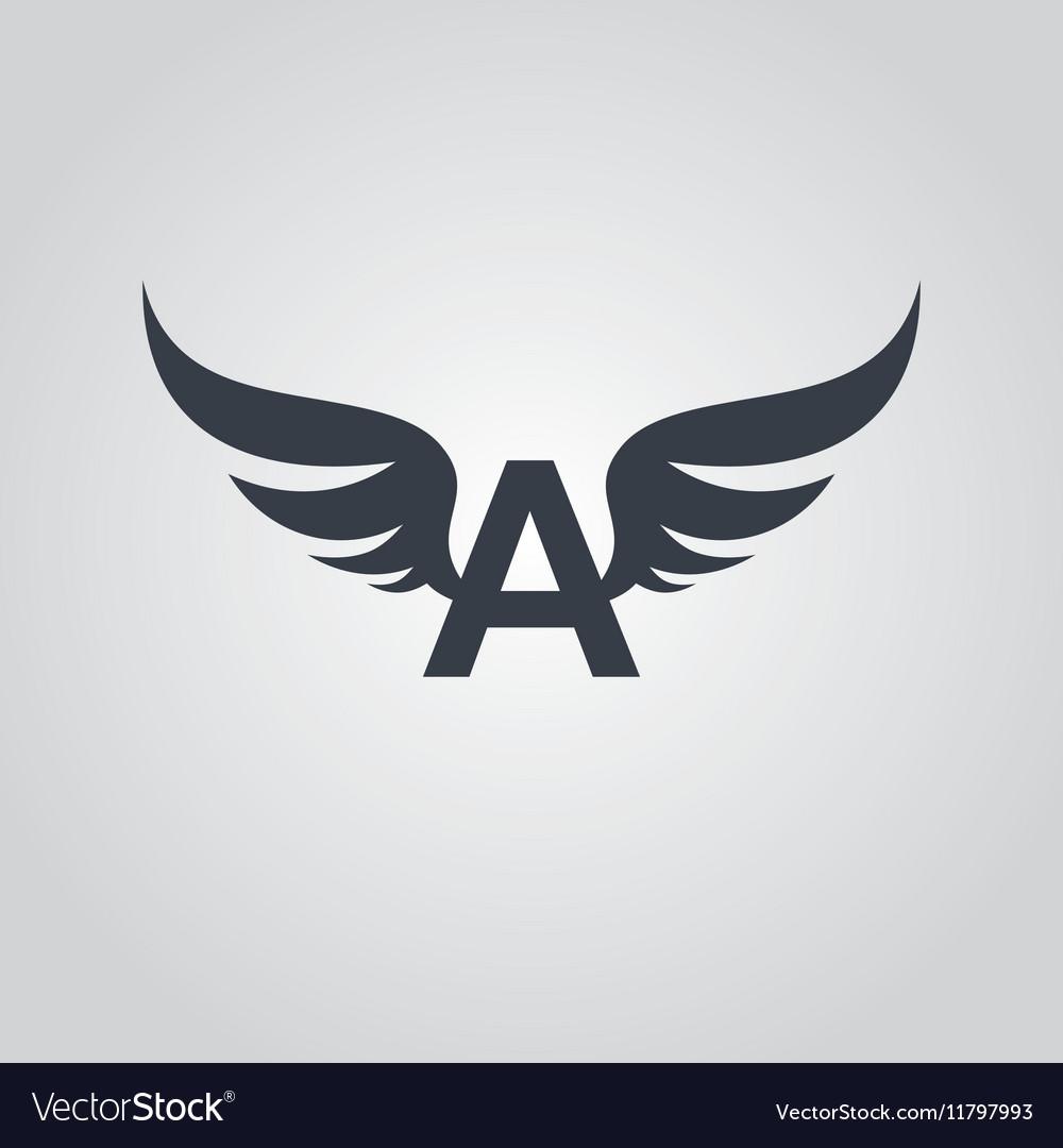 Aviator symbol logo logotype theme.