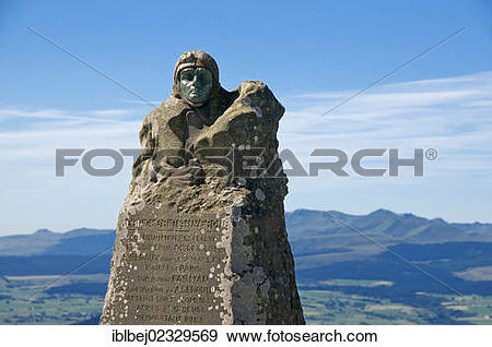 Stock Photograph of Michelin monument to aviator Eugene Renaux at.