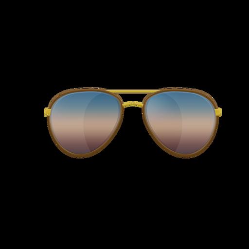 Blue aviator sunglasses.