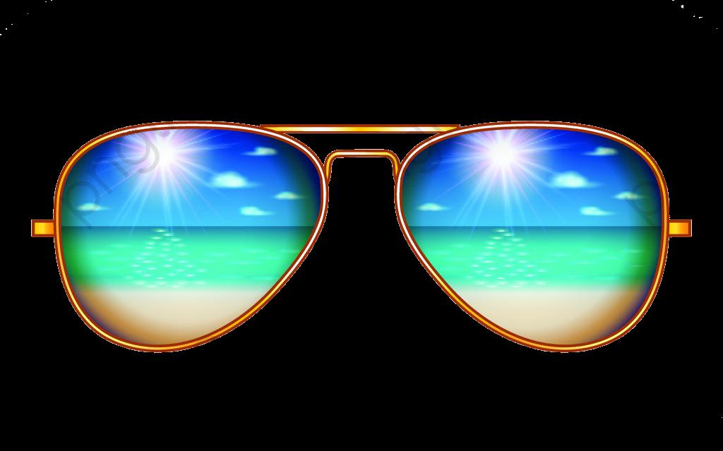 Creative Aviator Sunglasses Illustration, Sunglasses Clipart.