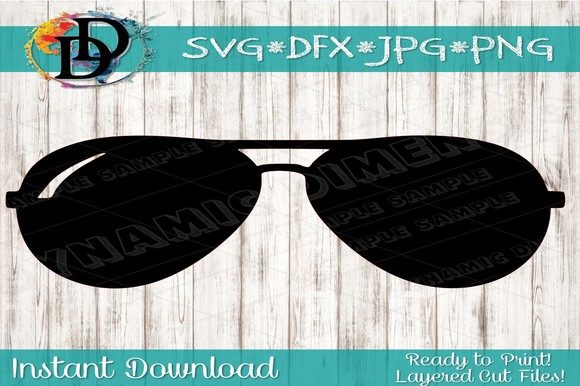 Aviator Sunglasses SVG.