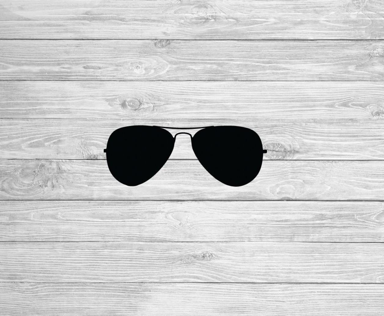 Sunglasses Clip Art Aviator Svg Clipart.