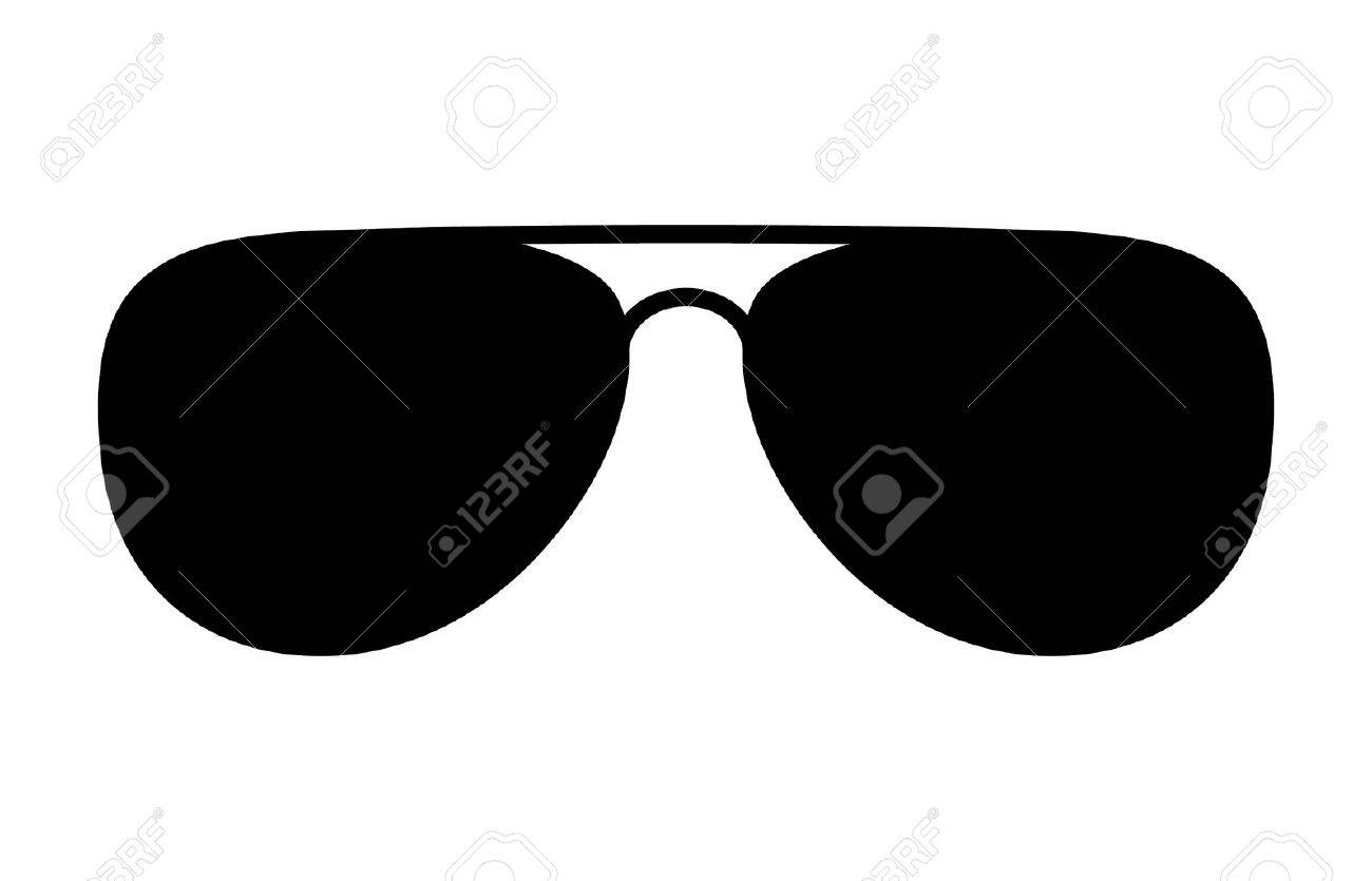 Aviator sunglasses shades protective eyewear flat icon for apps...