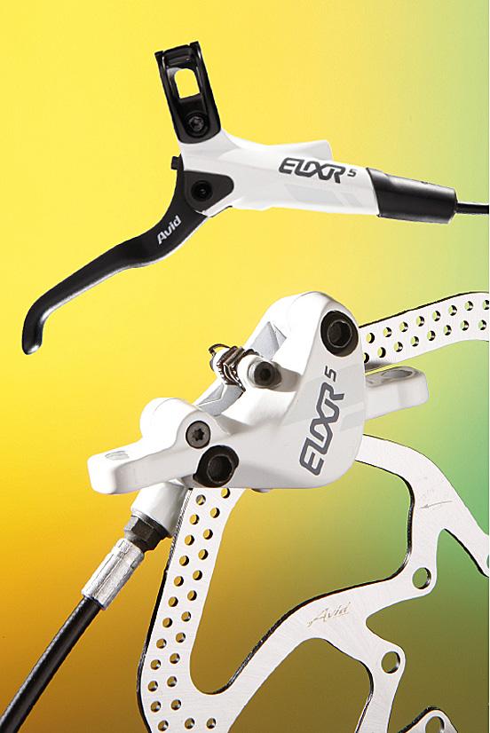 Avid Elixir 5 disc brakes.