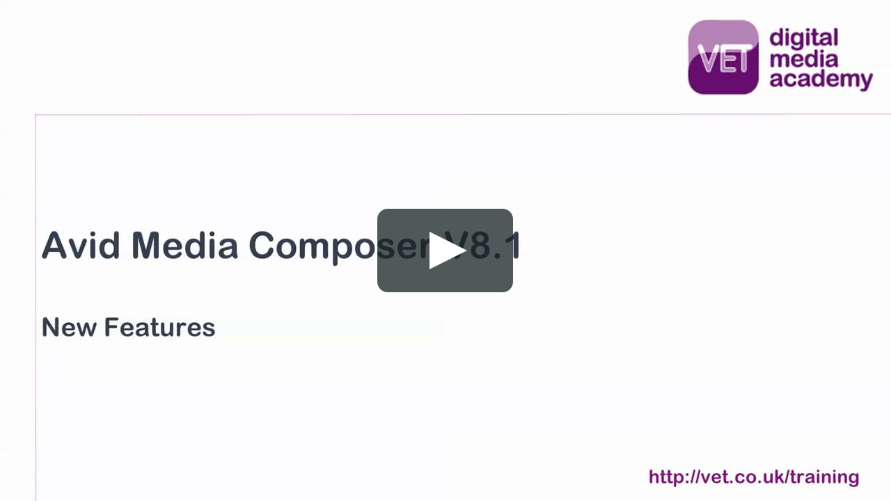 Avid Media Composer V8.1 New Features Review.