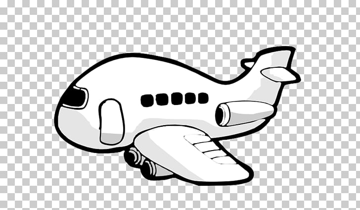 Airplane Black and white , aircraft PNG clipart.